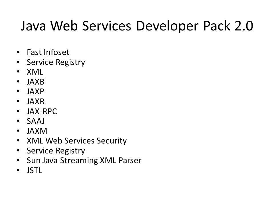 Java Web Services Developer Pack 2.0