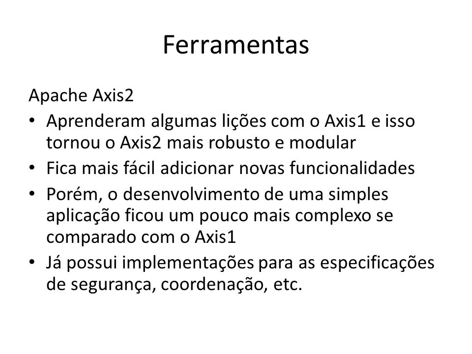 Ferramentas Apache Axis2
