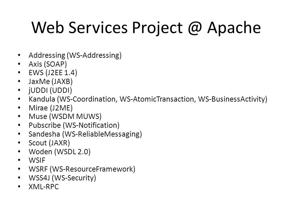 Web Services Project @ Apache