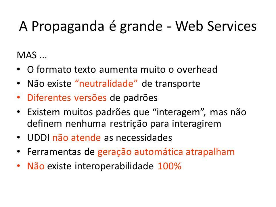 A Propaganda é grande - Web Services