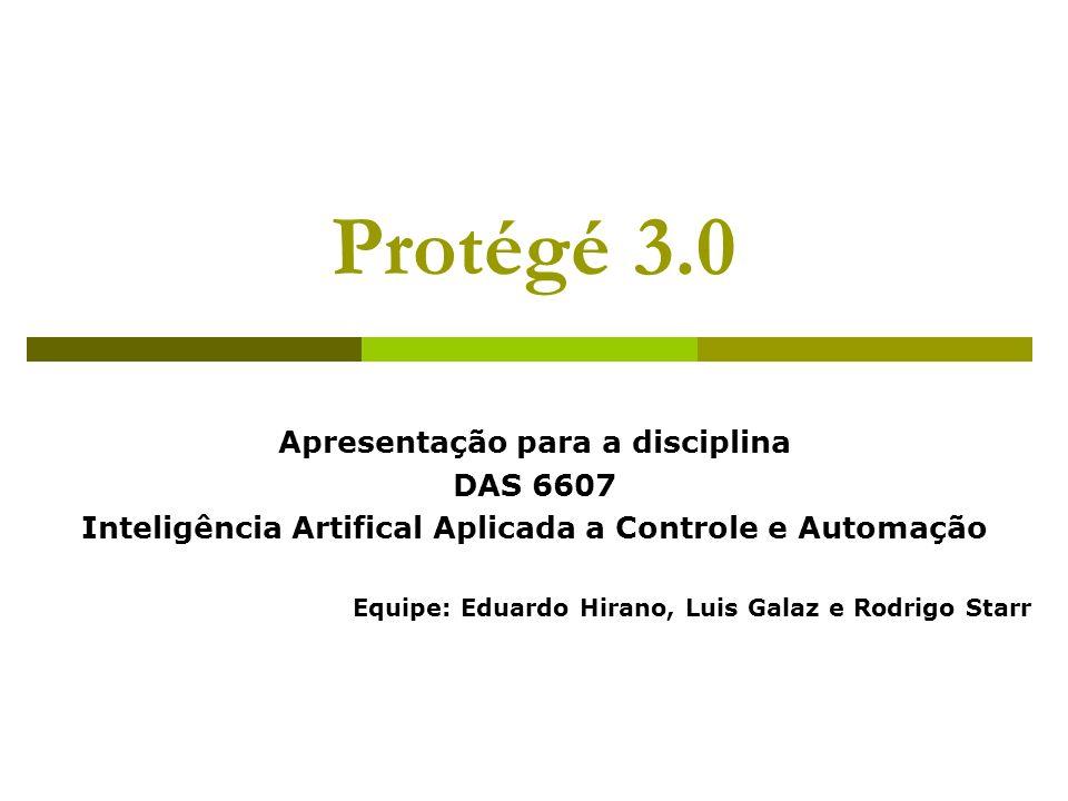 Protégé 3.0 Apresentação para a disciplina DAS 6607