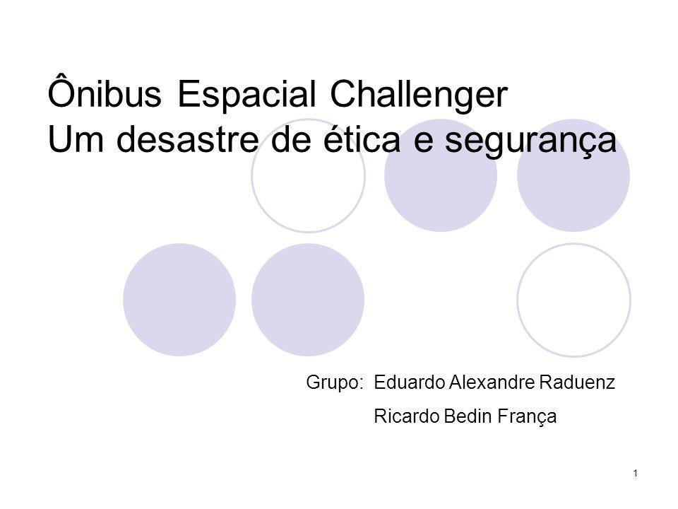 Ônibus Espacial Challenger Um desastre de ética e segurança