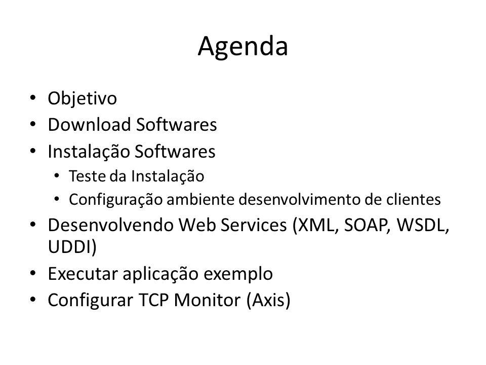 Agenda Objetivo Download Softwares Instalação Softwares