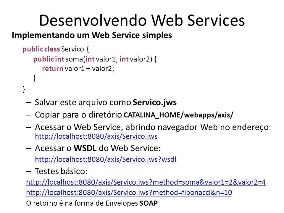 Desenvolvendo Web Services