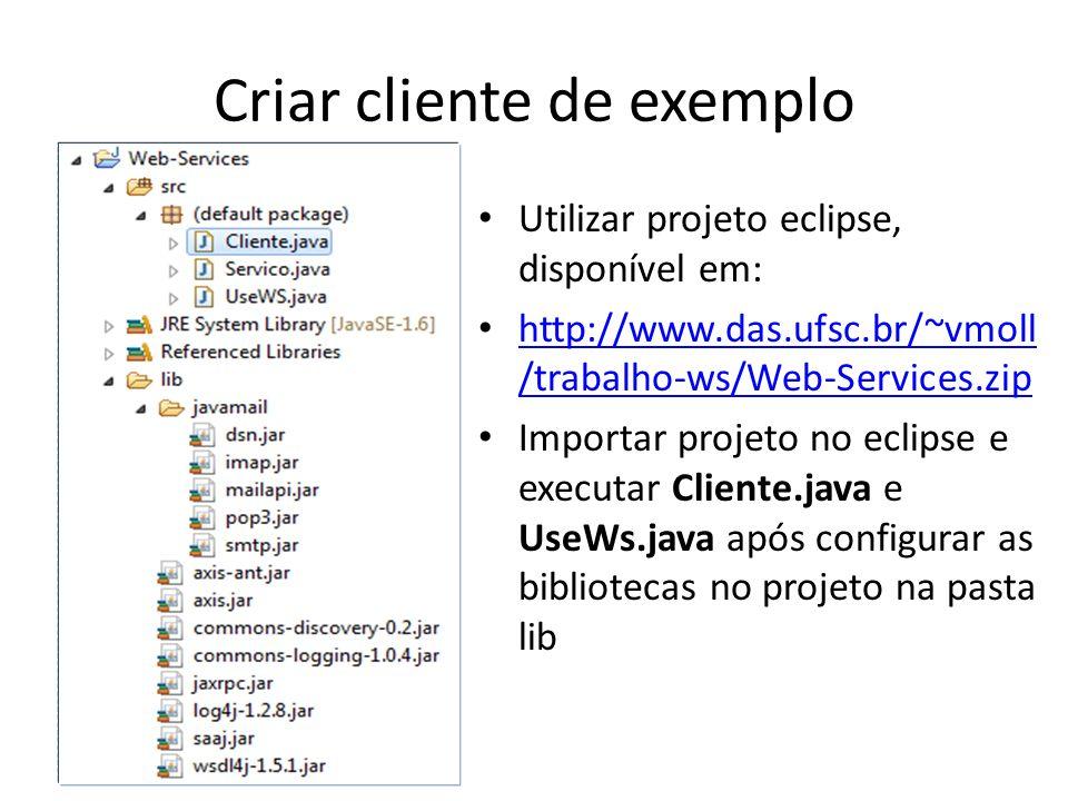 Criar cliente de exemplo