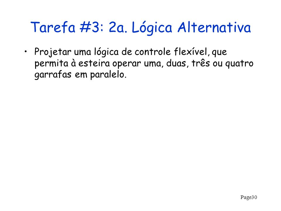 Tarefa #3: 2a. Lógica Alternativa