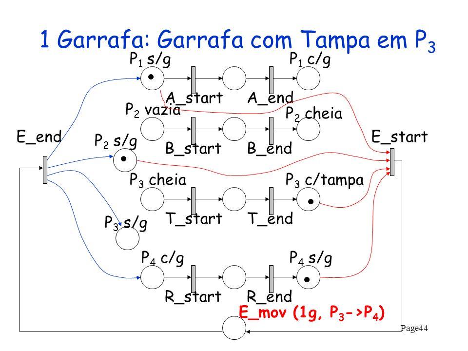 1 Garrafa: Garrafa com Tampa em P3