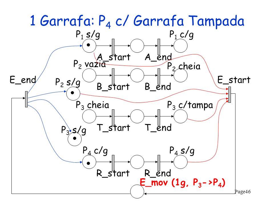 1 Garrafa: P4 c/ Garrafa Tampada