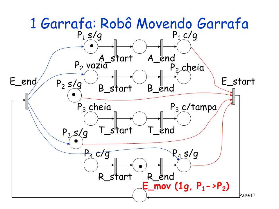 1 Garrafa: Robô Movendo Garrafa