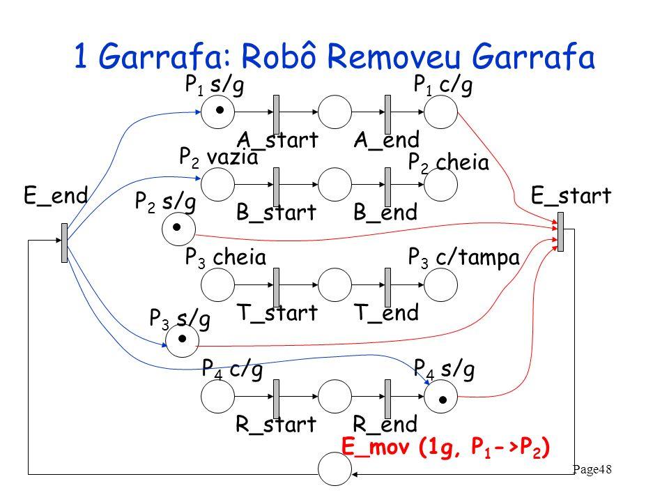 1 Garrafa: Robô Removeu Garrafa
