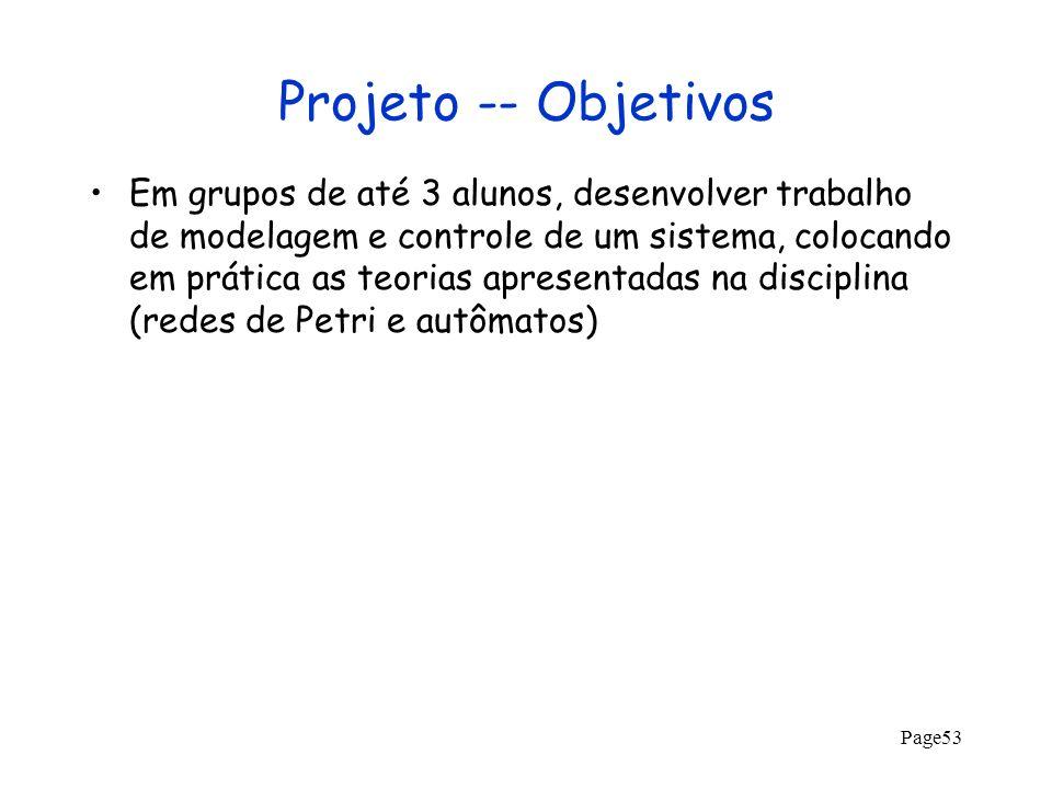 Projeto -- Objetivos