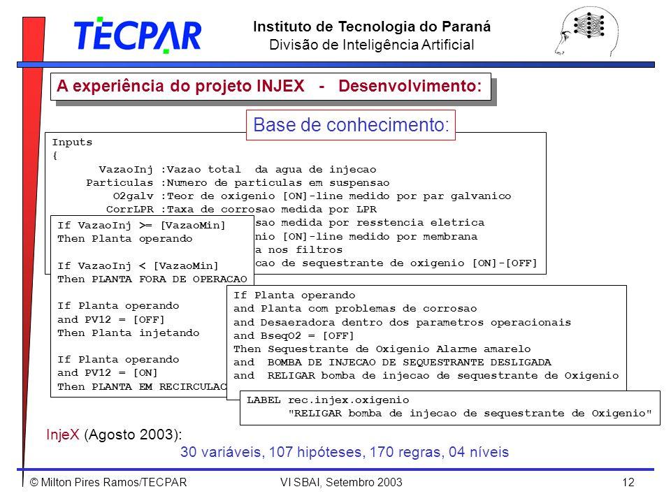 A experiência do projeto INJEX - Desenvolvimento: