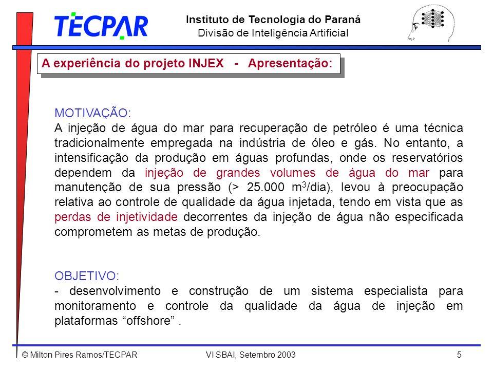 A experiência do projeto INJEX - Apresentação: