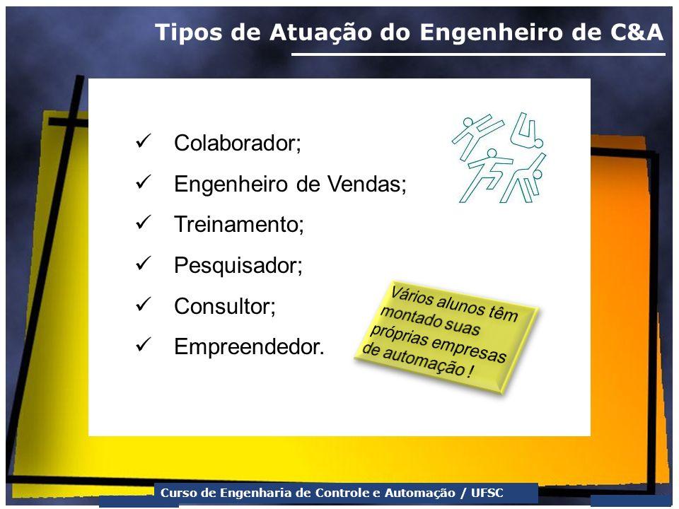 Tipos de Atuação do Engenheiro de C&A