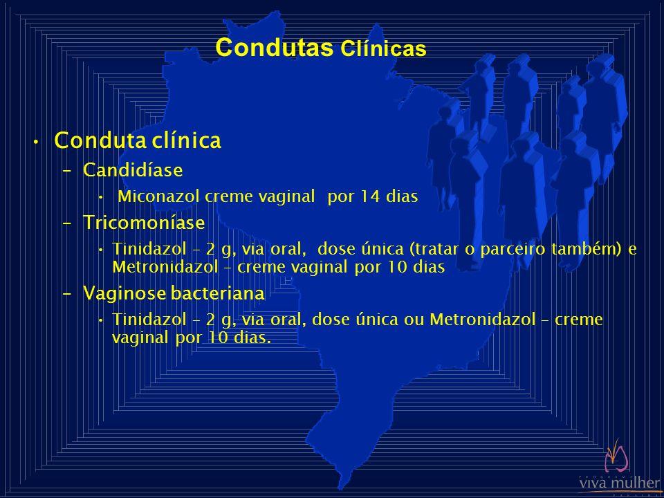 Condutas Clínicas Conduta clínica Candidíase Tricomoníase