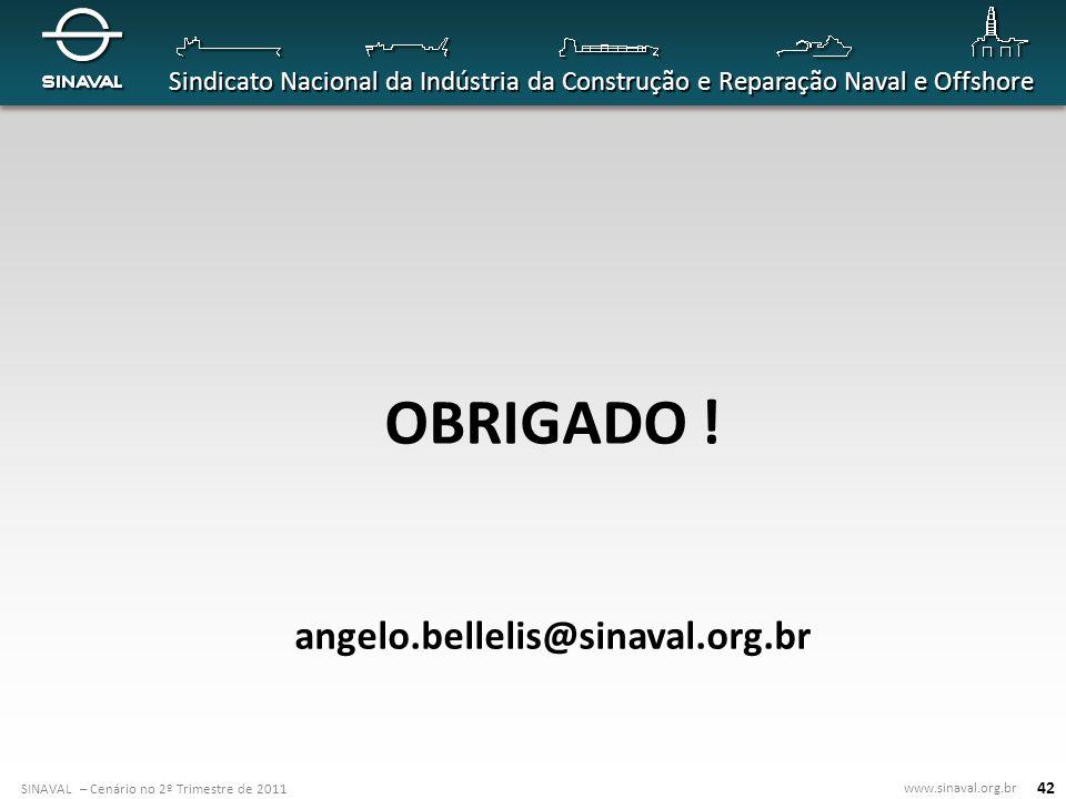 OBRIGADO ! angelo.bellelis@sinaval.org.br 42