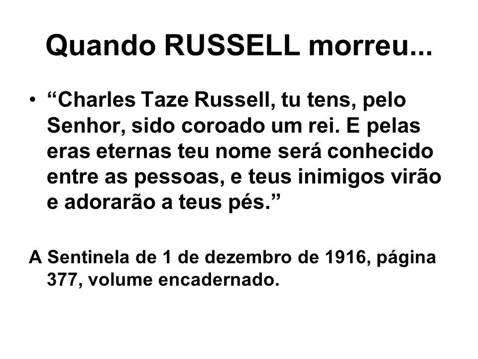 Quando RUSSELL morreu...