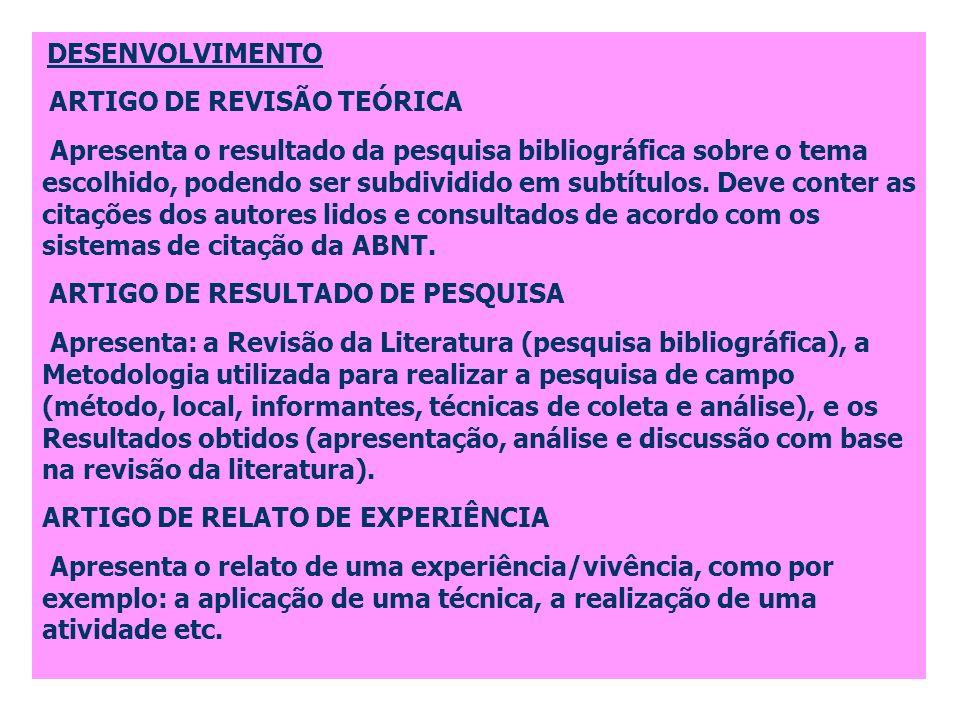 ARTIGO DE REVISÃO TEÓRICA