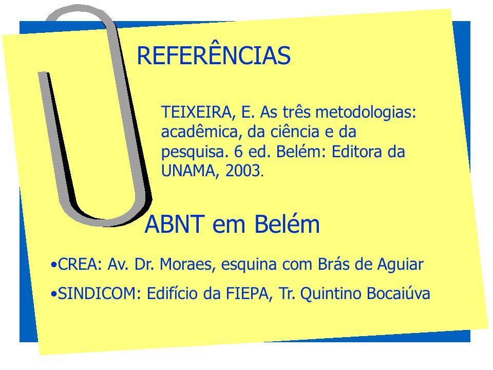 REFERÊNCIAS ABNT em Belém