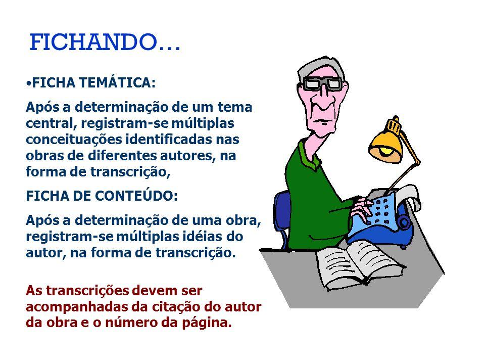 FICHANDO… FICHA TEMÁTICA: