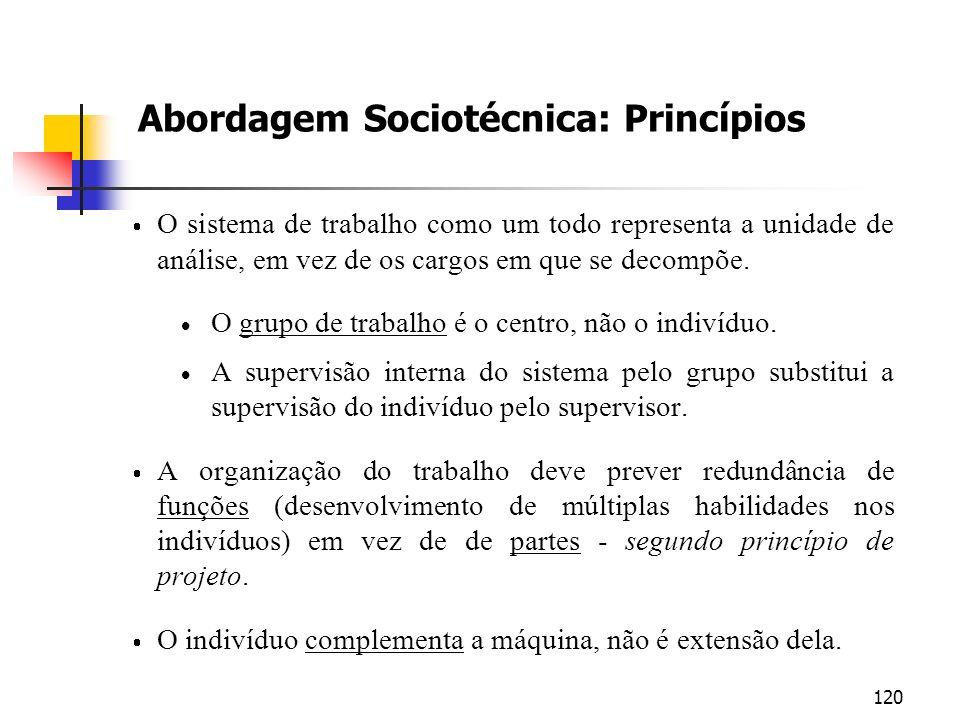 Abordagem Sociotécnica: Princípios