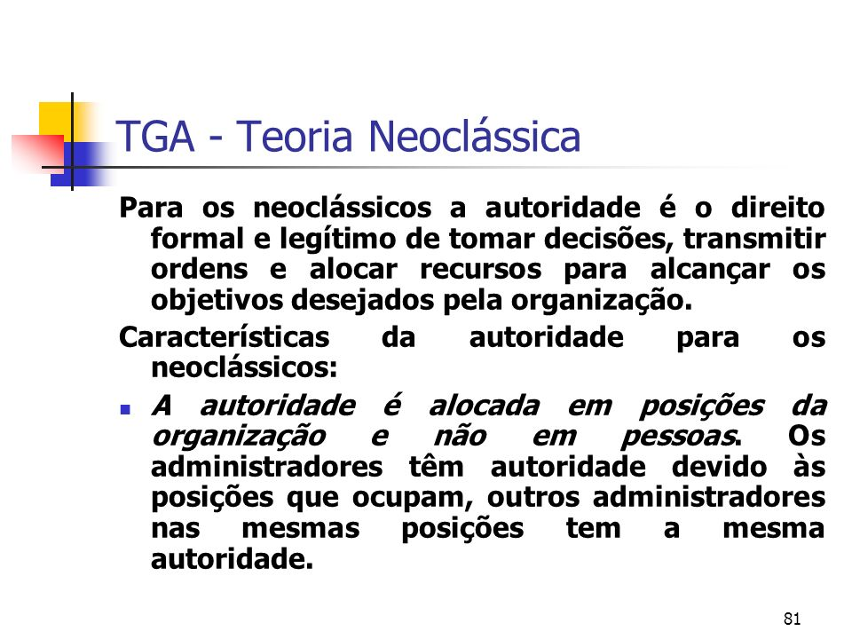 TGA - Teoria Neoclássica
