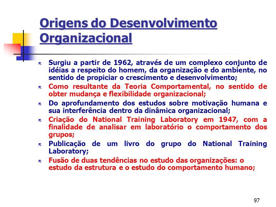 Origens do Desenvolvimento Organizacional