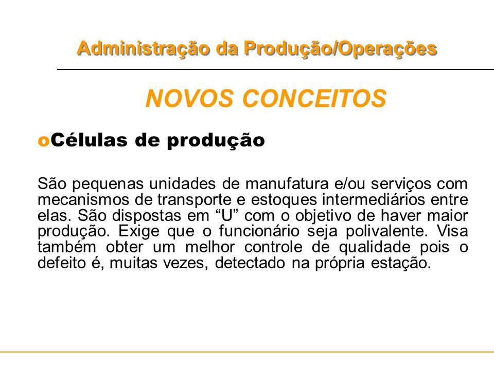 NOVOS CONCEITOS Células de produção
