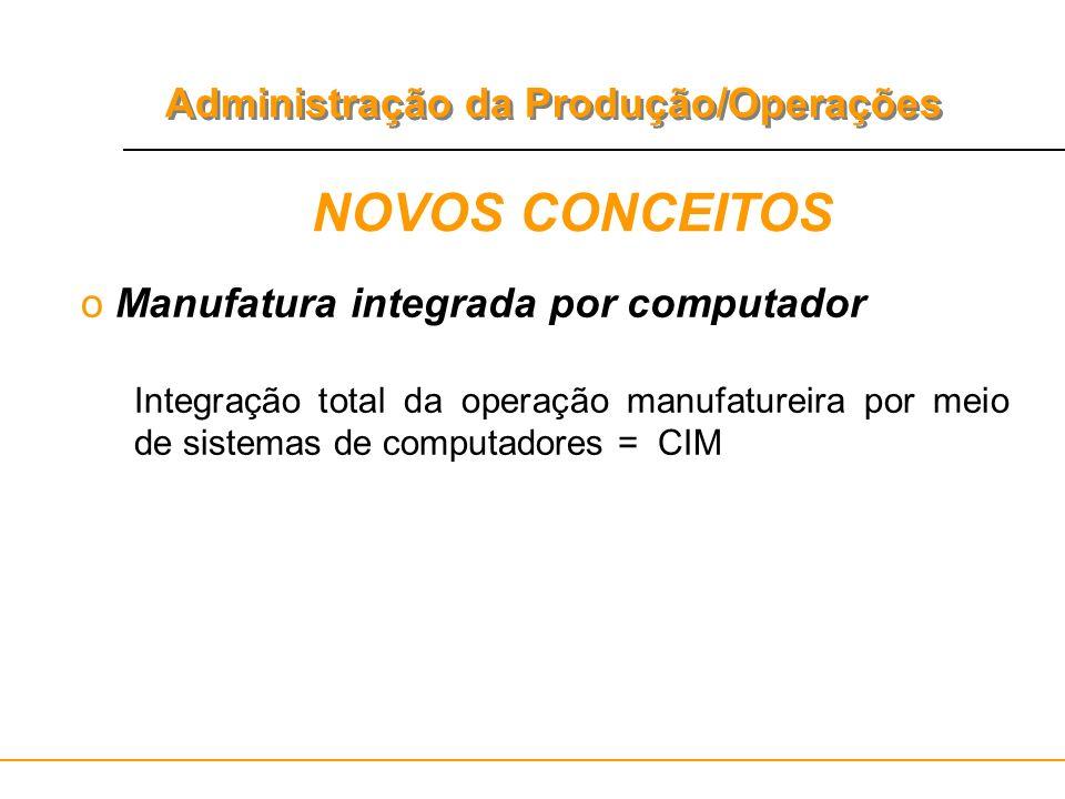 NOVOS CONCEITOS Manufatura integrada por computador