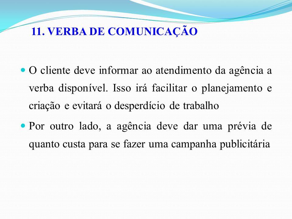 11. VERBA DE COMUNICAÇÃO