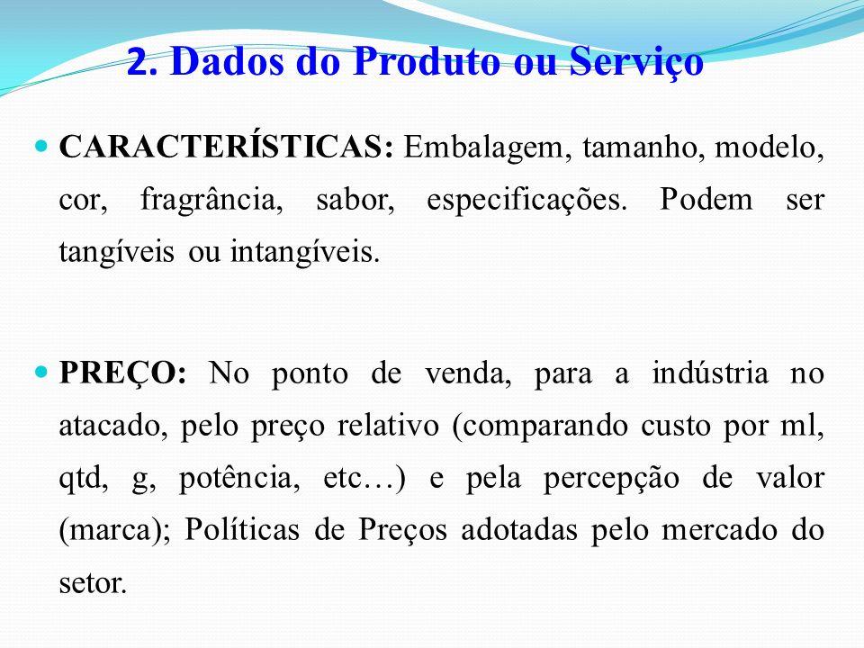 2. Dados do Produto ou Serviço