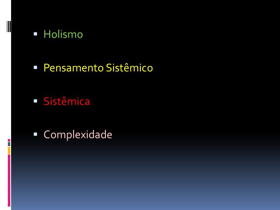 Holismo Pensamento Sistêmico Sistêmica Complexidade