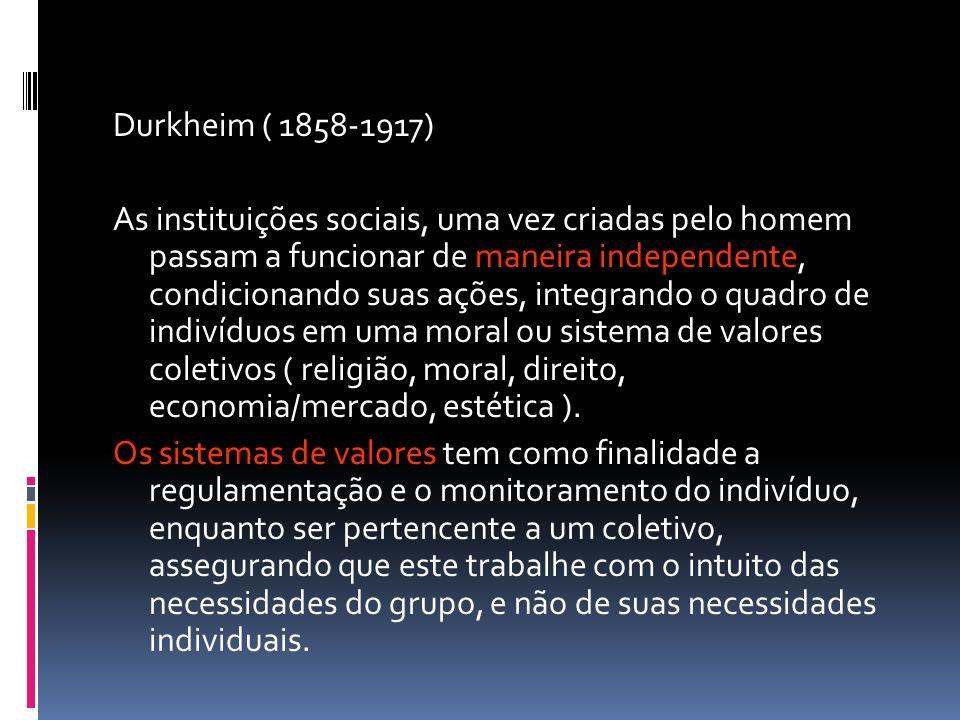 Durkheim ( 1858-1917)