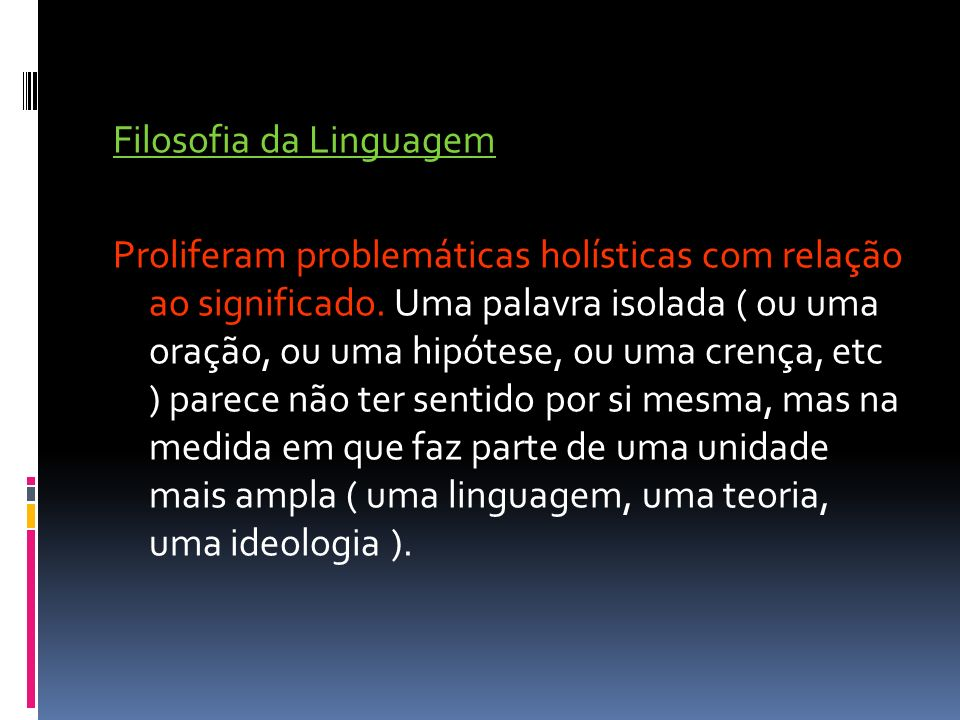 Filosofia da Linguagem