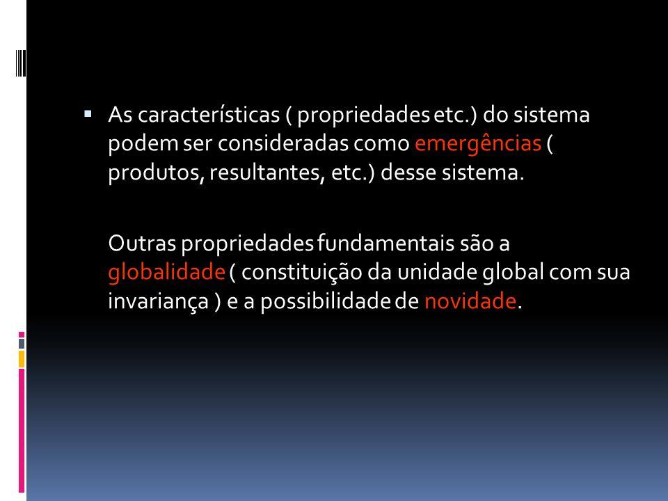 As características ( propriedades etc