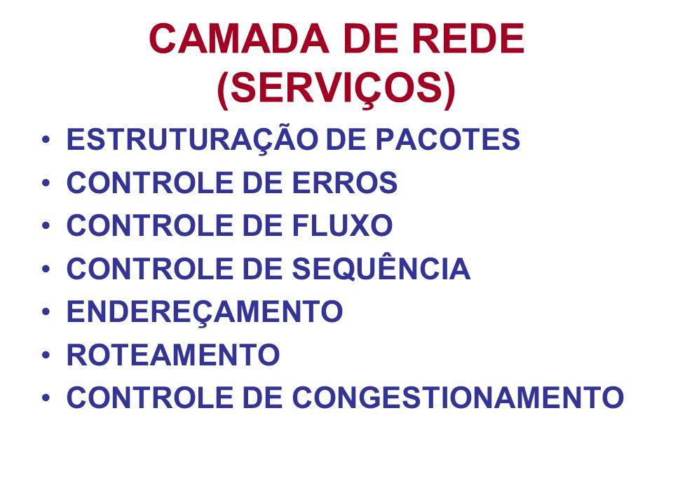 CAMADA DE REDE (SERVIÇOS)