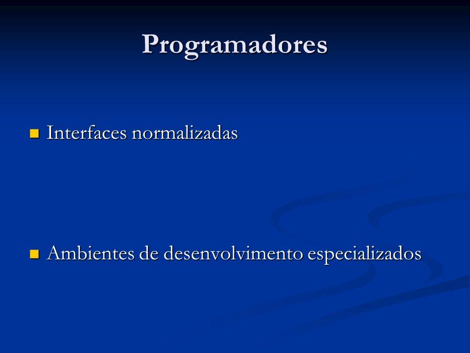 Programadores Interfaces normalizadas
