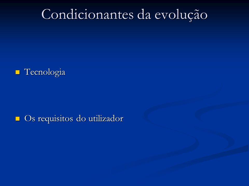 Condicionantes da evolução