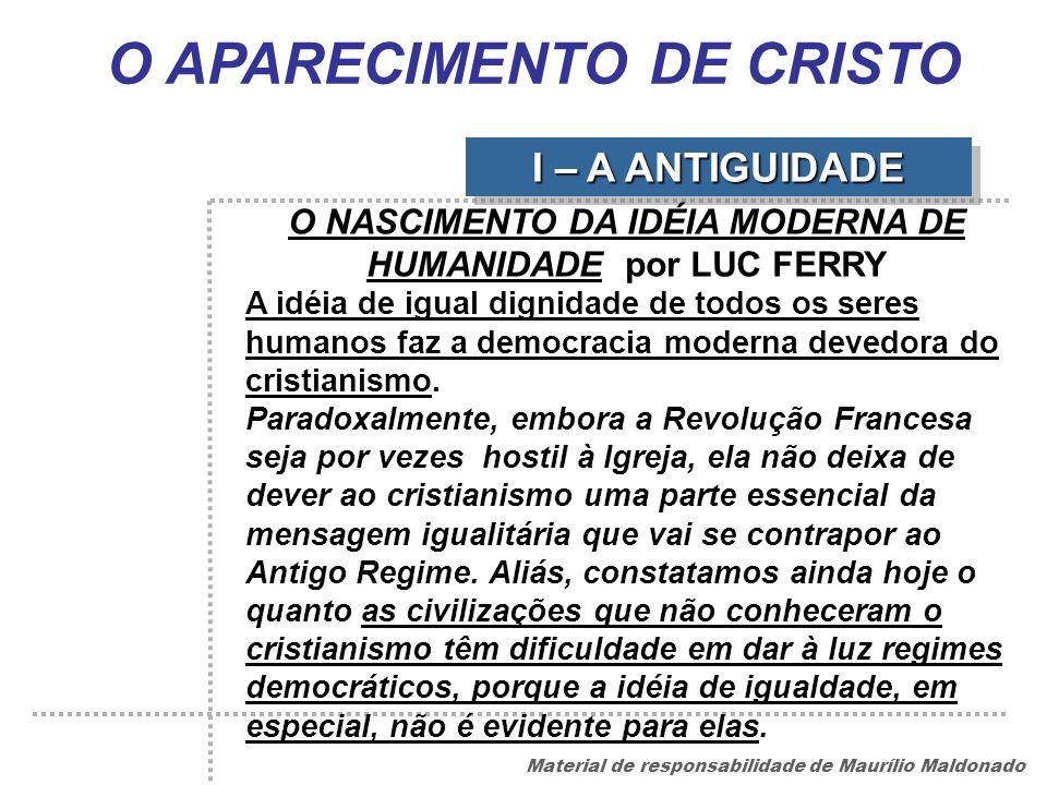 O APARECIMENTO DE CRISTO
