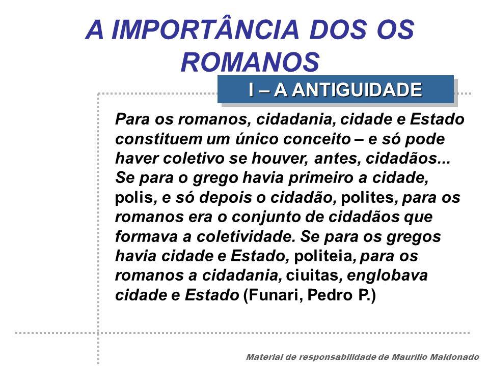 A IMPORTÂNCIA DOS OS ROMANOS