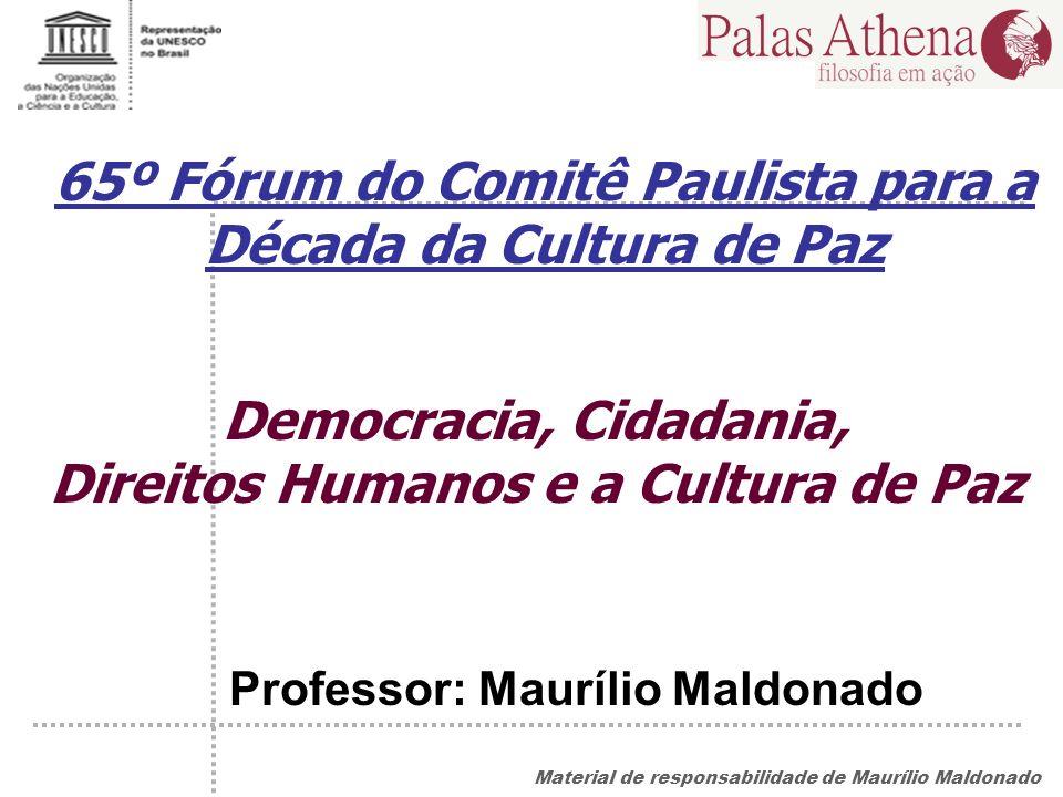 65º Fórum do Comitê Paulista para a Década da Cultura de Paz