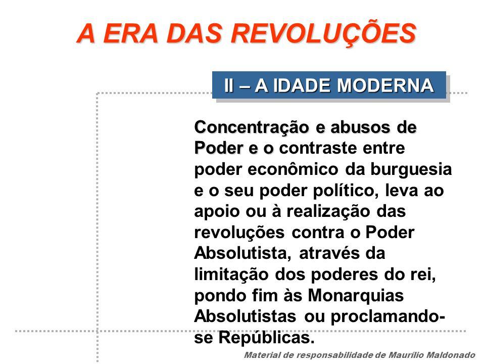 A ERA DAS REVOLUÇÕES II – A IDADE MODERNA