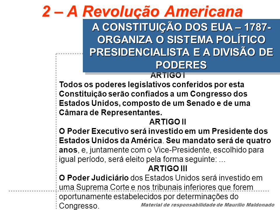 2 – A Revolução Americana