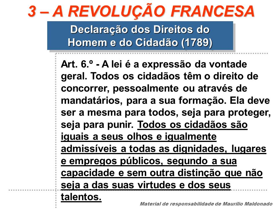 Declaração dos Direitos do Homem e do Cidadão (1789)