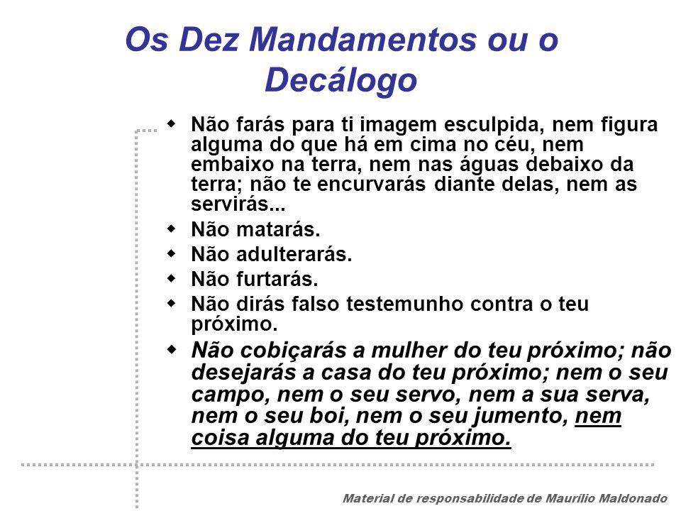 Os Dez Mandamentos ou o Decálogo