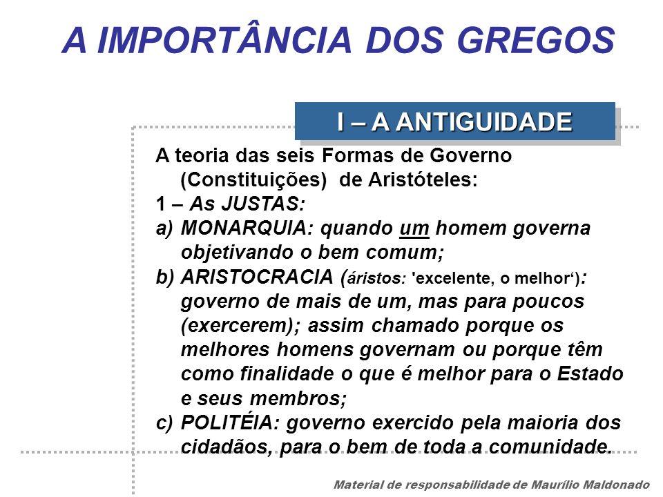 A IMPORTÂNCIA DOS GREGOS