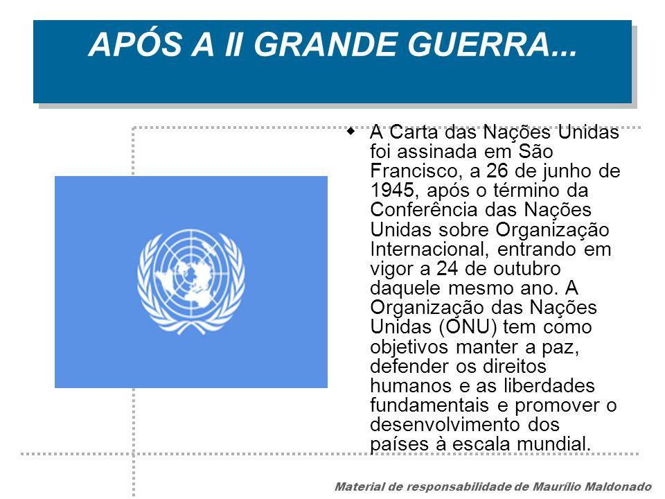 APÓS A II GRANDE GUERRA...