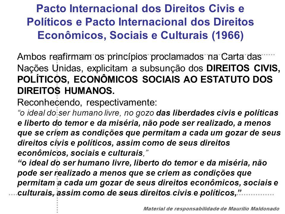 Pacto Internacional dos Direitos Civis e Políticos e Pacto Internacional dos Direitos Econômicos, Sociais e Culturais (1966)