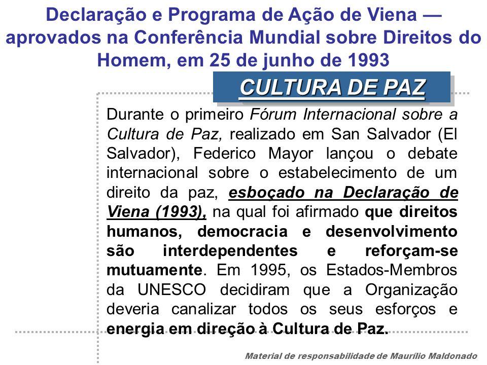 Declaração e Programa de Ação de Viena — aprovados na Conferência Mundial sobre Direitos do Homem, em 25 de junho de 1993