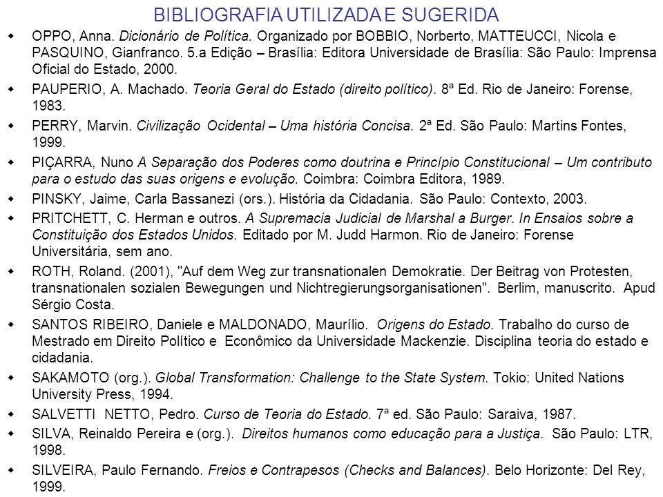 BIBLIOGRAFIA UTILIZADA E SUGERIDA